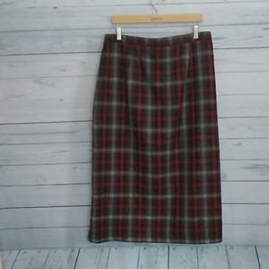 Sag Harbor Woman plaid tartan skirt size 18w
